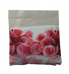Telo Spugna Flowers Rose